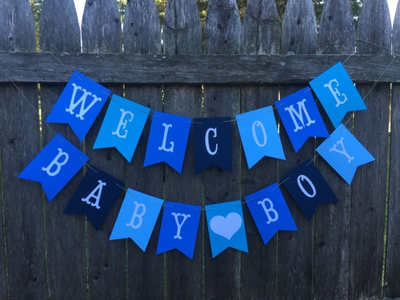 welcome baby banner baby boy banner baby shower banner etsy