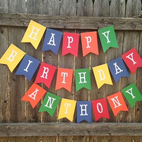 boy birthday banner boy 1st birthday banner happy birthday etsy