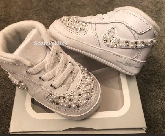 Custom Baby Nike Air Force 1 Crib shoes