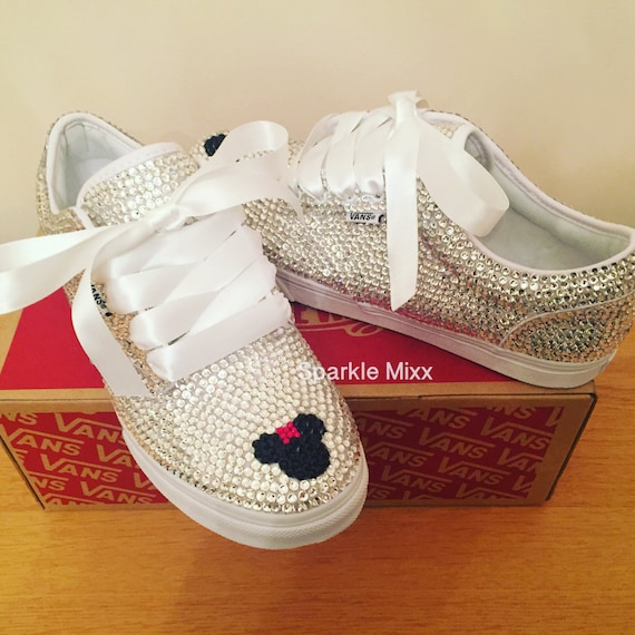 FULLY Covered Crystal Minnie Mouse Vans