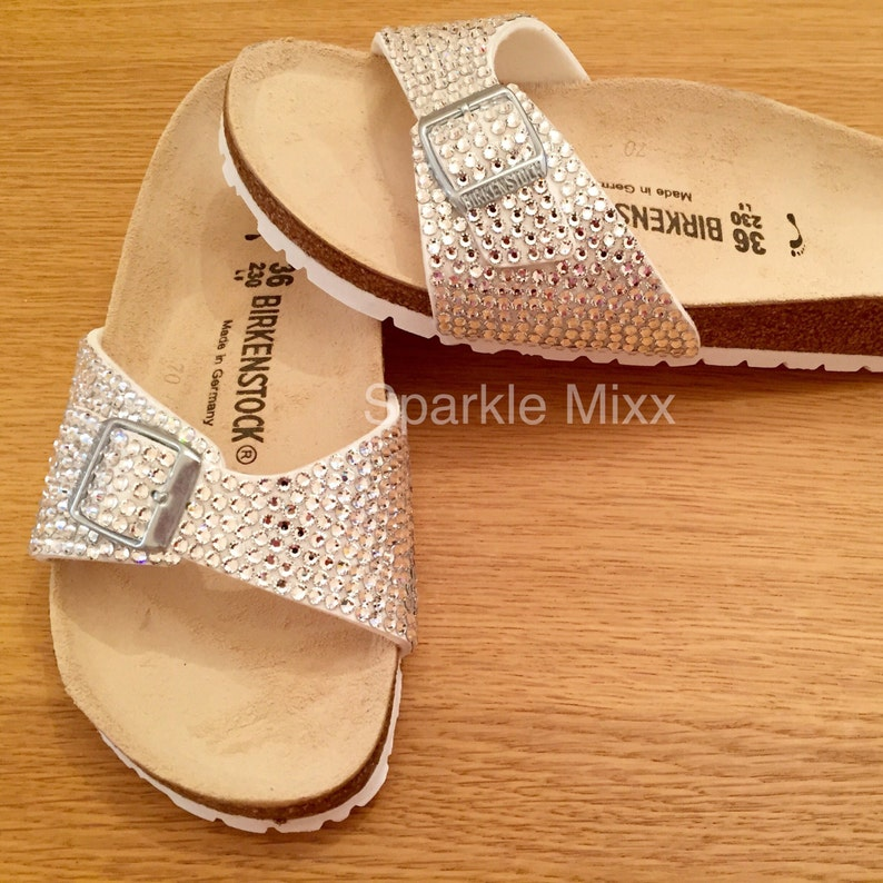 5bf921ef1988 Adults Swarovski Fully Covered Crystal Birkenstock Sandals