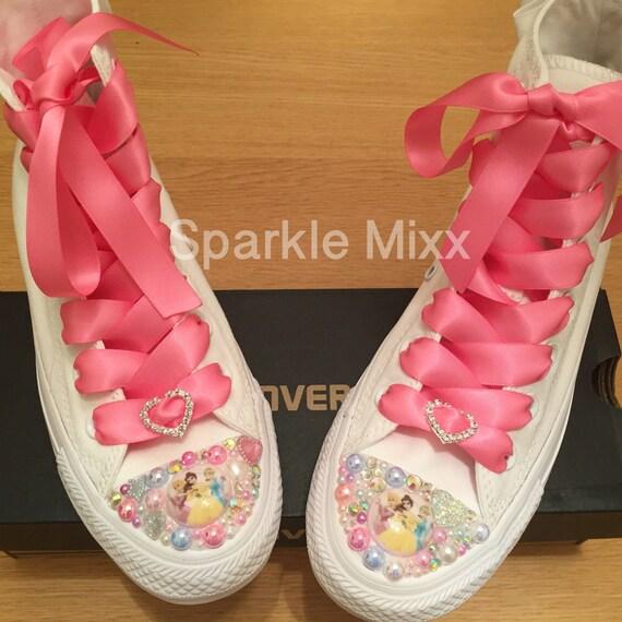 Girls Disney Princess High Top Converse