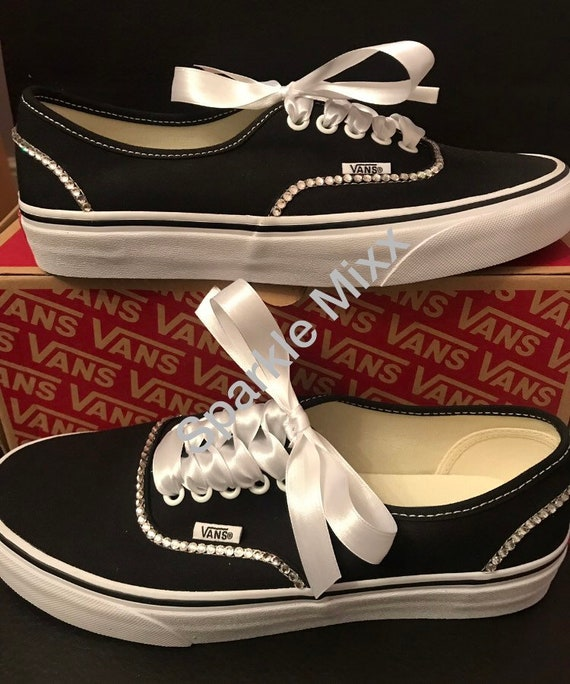 Adults Crystal Bling Vans Trainers