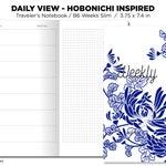 B6 WEEKS Slim Weekly Horizontal Hobonichi Weeks Inspired Layout GRID