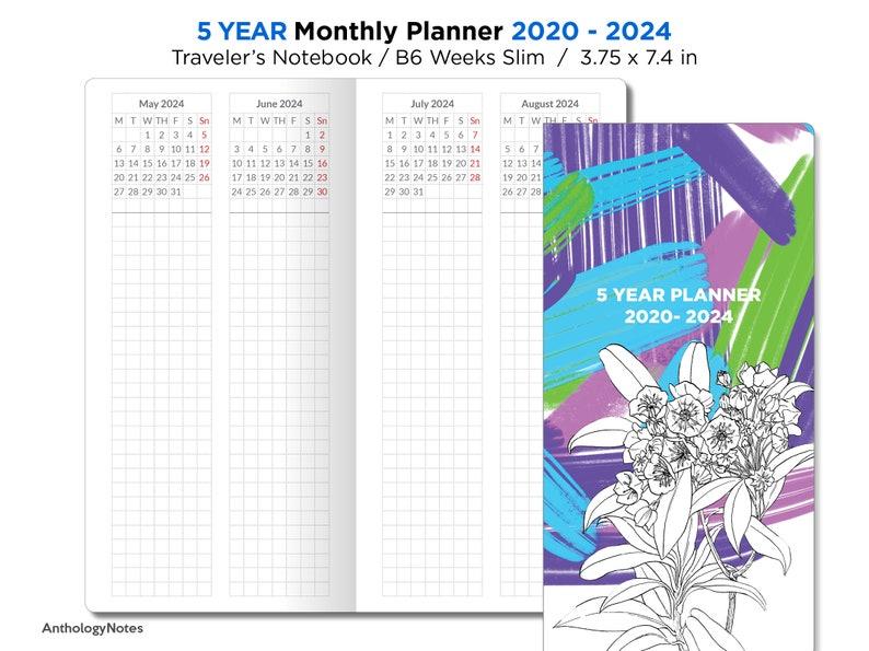 B6 Hobonichi Weeks Slim   5 Year Planner 2020  image 0