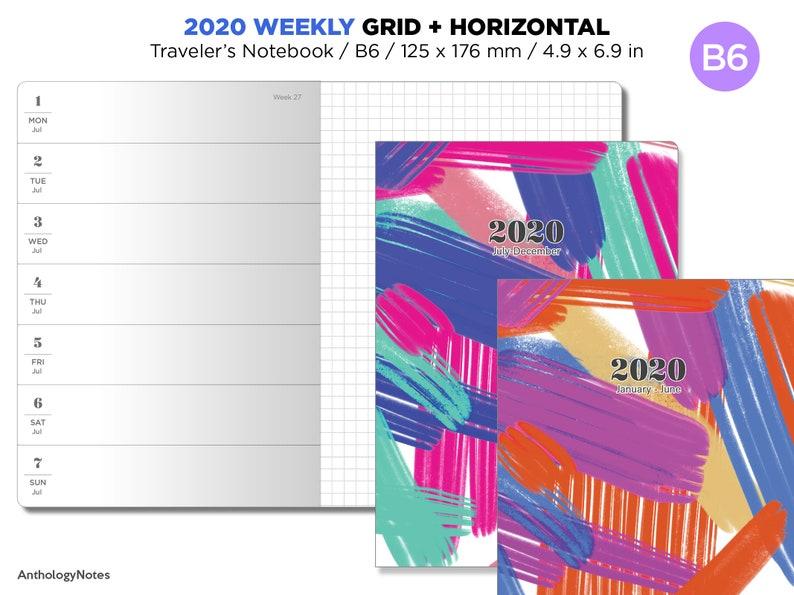 2020 B6 Traveler's Notebook Printable Planner Weekly View image 0