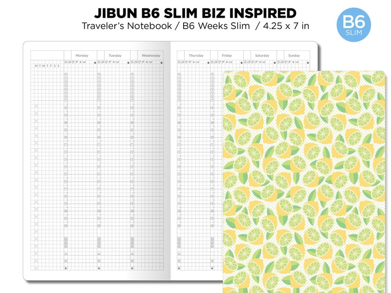 B6 Slim JIBUN Biz Weekly GRID Traveler's Notebook Vertical image 0