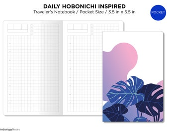 Pocket Size Hobonichi TN Insert - Traveler's Notebook Printable - Do1P - Minimalist - Daily View