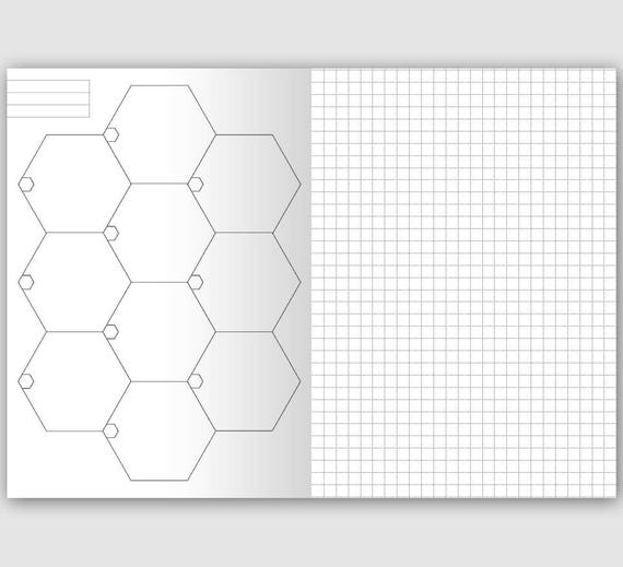 photograph relating to Printable Hexagon Grid identified as B6 HEXAGON Holidaymakers Laptop Printable Incorporate - GRID