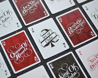 The Type Deck - Typography Playing Cards Printed by USPCC Poker