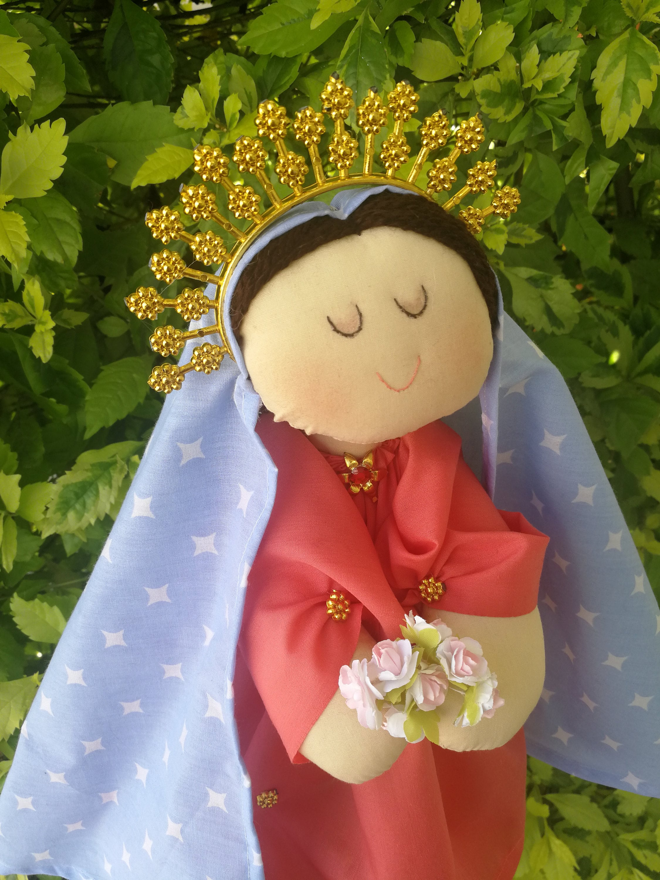 Virgen De Guadalupe Doll Our Lady Of Guadalupe Felt Doll Etsy