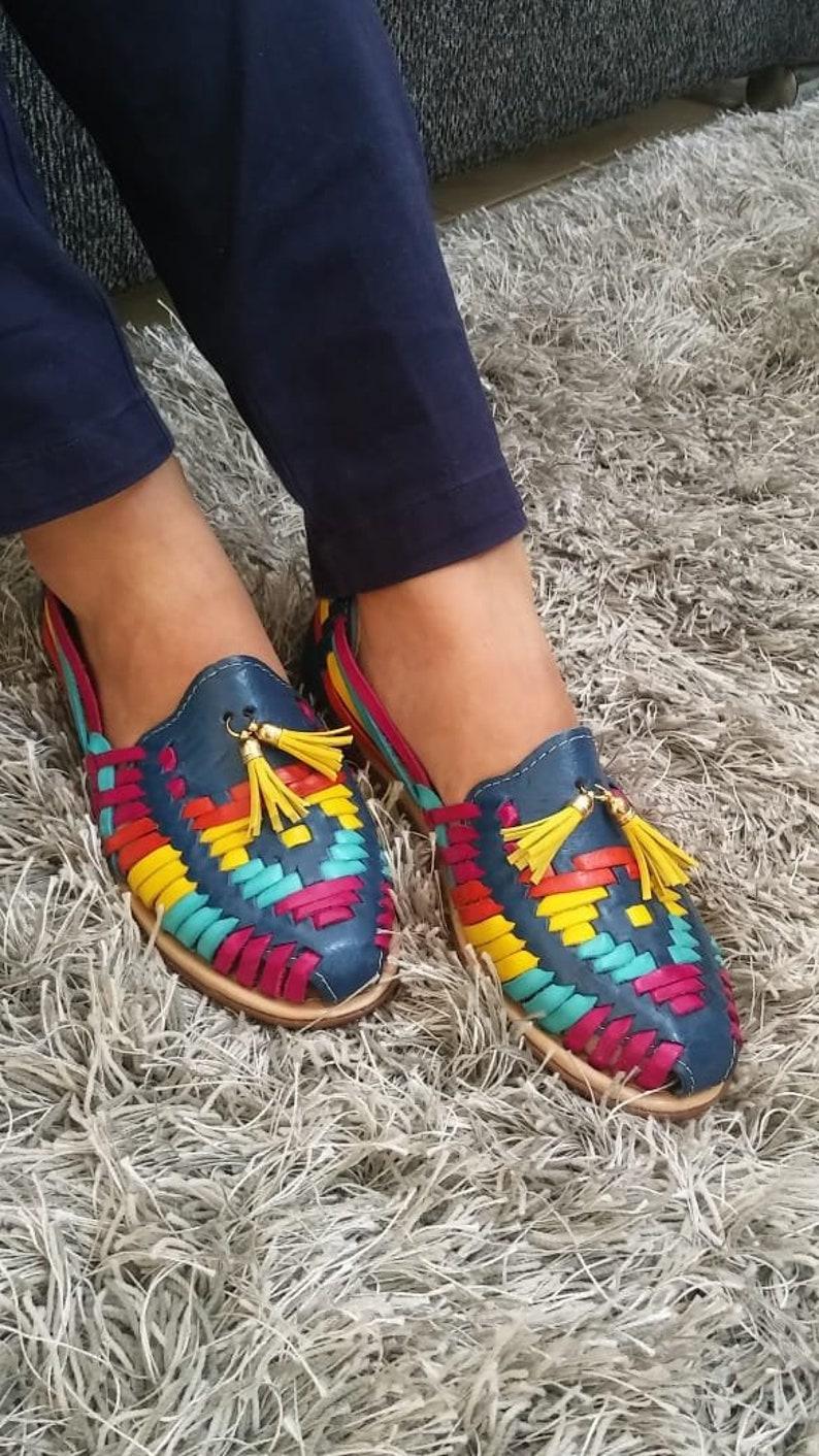 a7e2061d73e Mexican Sandals Mexican Huarache sandals Mexican shoes US 9