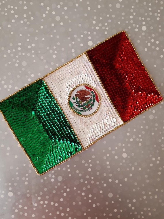 New Flag of Mexico Mexican bandera embroidered applique iron-on patch Small