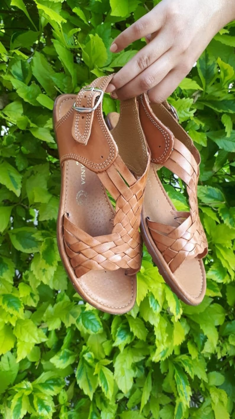 Mexican tan sandals Brown Mexican