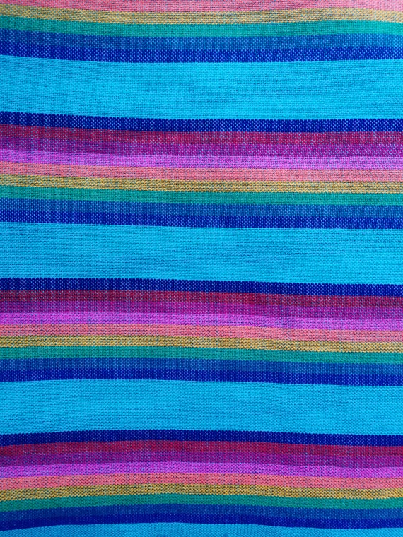 Mexican Blue Rebozo Folk Fabric Supply Mexican Table Runner | Etsy