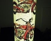 Indian Scout Motorcycle Paper Lantern No.659, first wedding anniversary gifts, motor mechanic gifts, writing gifts, librarian gifts