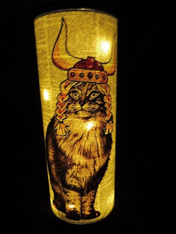 Norwegian Forest Cat Lantern No.233 nursery night light cat lover gifts