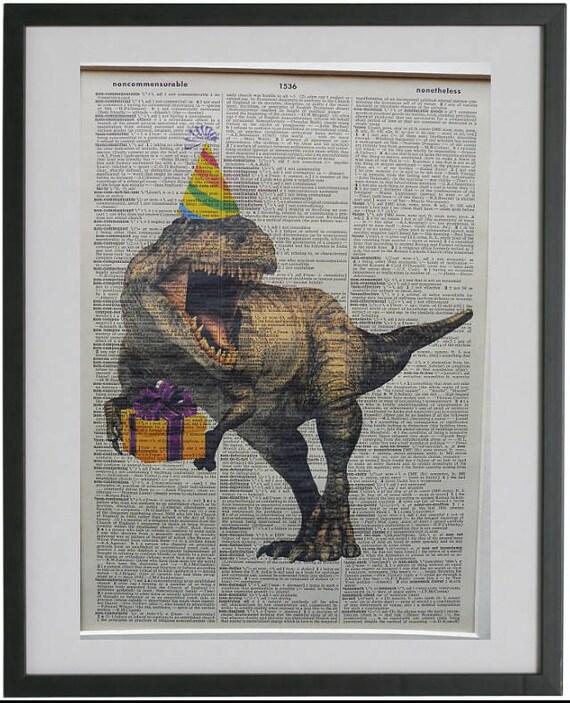 Dinosaur Print No 445 Dinosaur Decor Nursery Print
