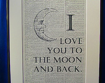 I Love You To the Moon and Back Print No.7, i love you print, i love you poster, boyfriend gift, girlfriend gift, wife gift, love