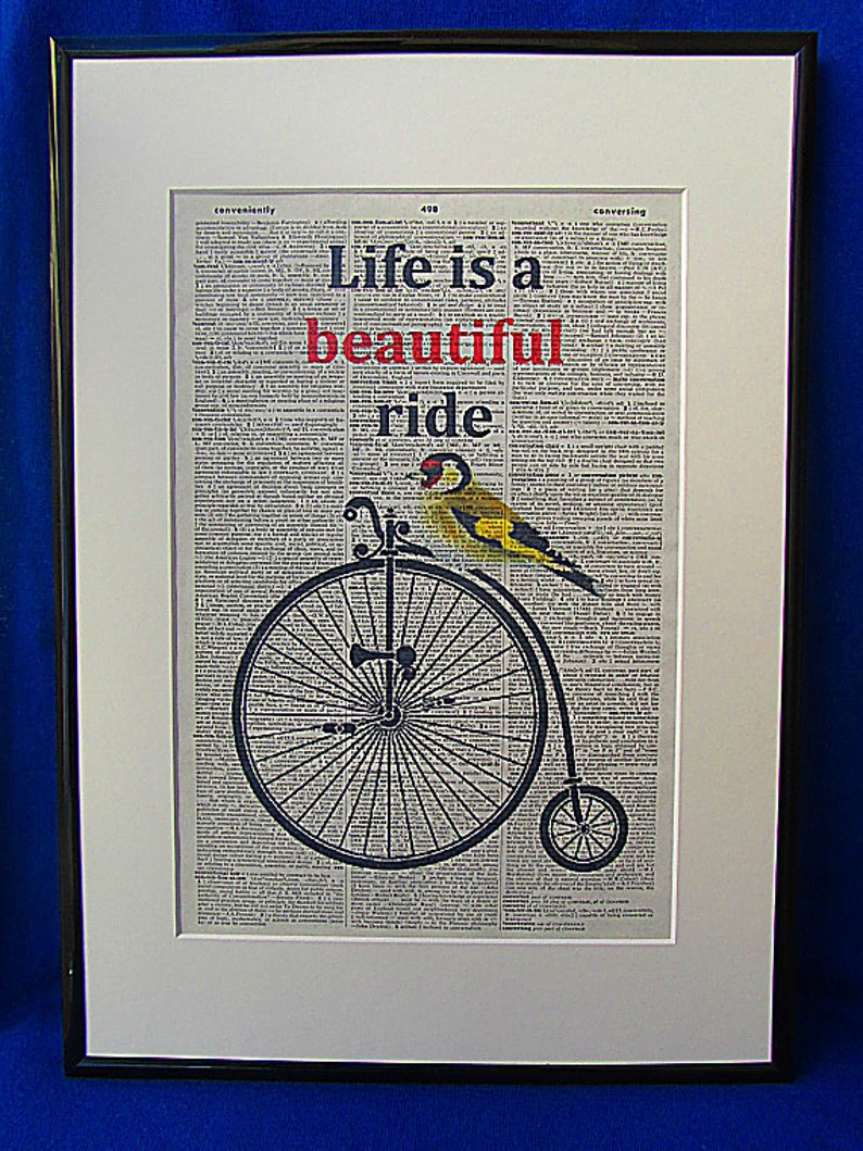 Inspirational Quote Print No10 Life Is A Beautiful Ride Etsy