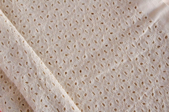 Embroidered Fabric Indian Cotton Fabric Wedding Dress Fabric Mauve Eyelet Fabric Fabric by the Yard Hair Bow Fabric Cotton Eyelet