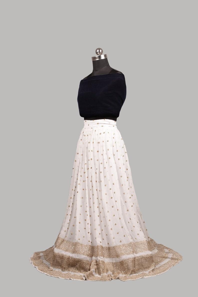 Chiffon Sequin Skirt Velvet Crop Top Indian Lehenga Choli Unstitched Lehenga Set Embroidered Lehenga Lehenga Fabric Bridesmaid Dresses