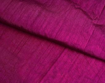 Magenta Silk Fabric, Dupioni Silk Fabric, Blend / Pure Silk Fabric, Art Silk Fabric, Purple Dupioni Fabric, Pure Dupioni Silk