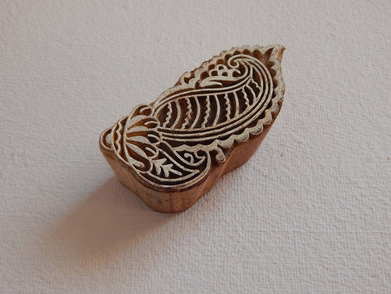 Wooden Stamp Pottery Stamp Textile Stamp Wooden Block Indian Wood Stamp Wooden Printing Block Paisley Stamp