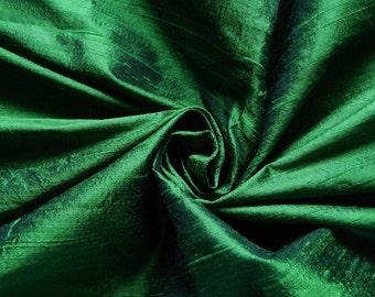 Pure Silk Fabric, Pure Dupioni Silk Fabric, Silk Fabric, Indian Silk Fabric, Green Silk Fabric
