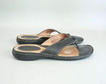 20fb4e164c4b1 Women 8 Leather Thong Sandal