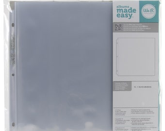 "We R Memory Keepers Ring Page Protectors 12""X12"" 10/Pkg"