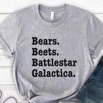 The Office Shirt - Bears Beets Battlestar Galactica Shirt - Unisex Soft Cotton Tee, The Office, T-Shirts, Dunder Mifflin Shirt, Funny Shirt