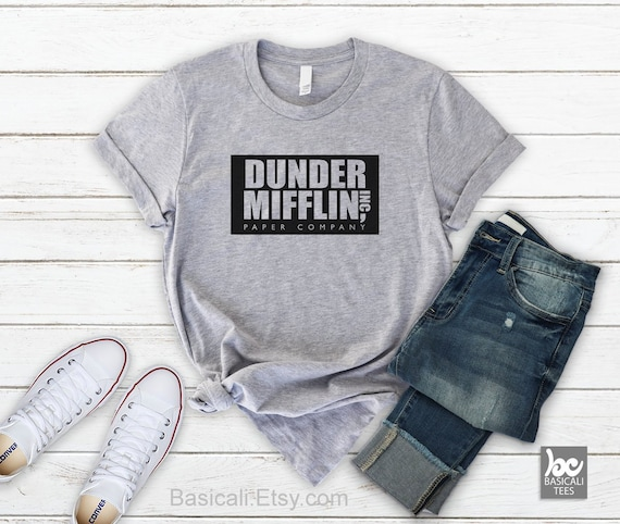3f7094b3651bf Dunder Mifflin Shirt The Office Shirt Soft and Comfy Tee