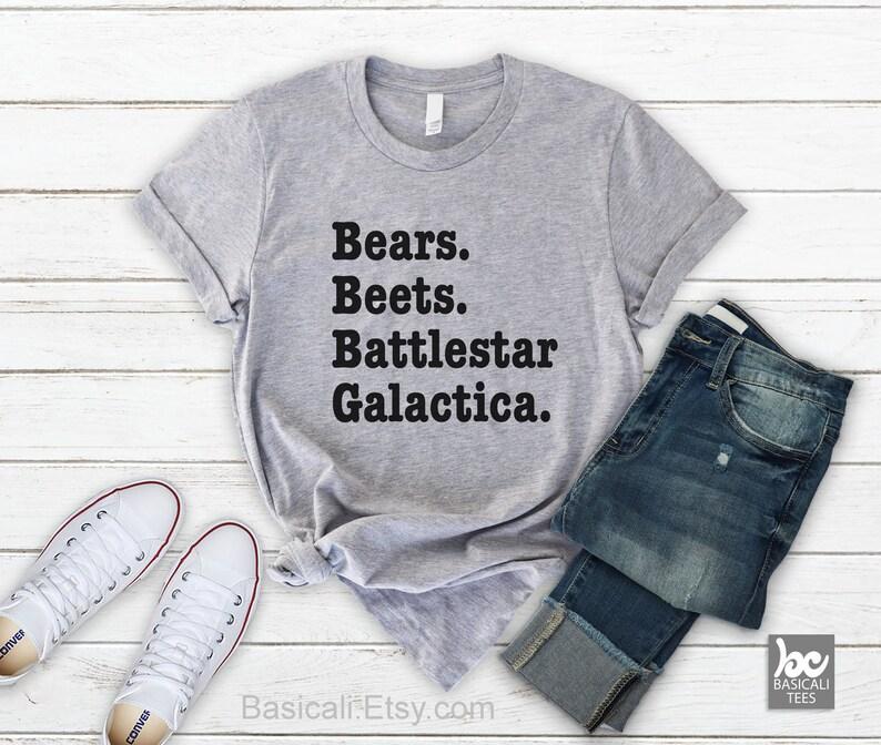 The Office Shirt  Bears Beets Battlestar Galactica Shirt  image 0