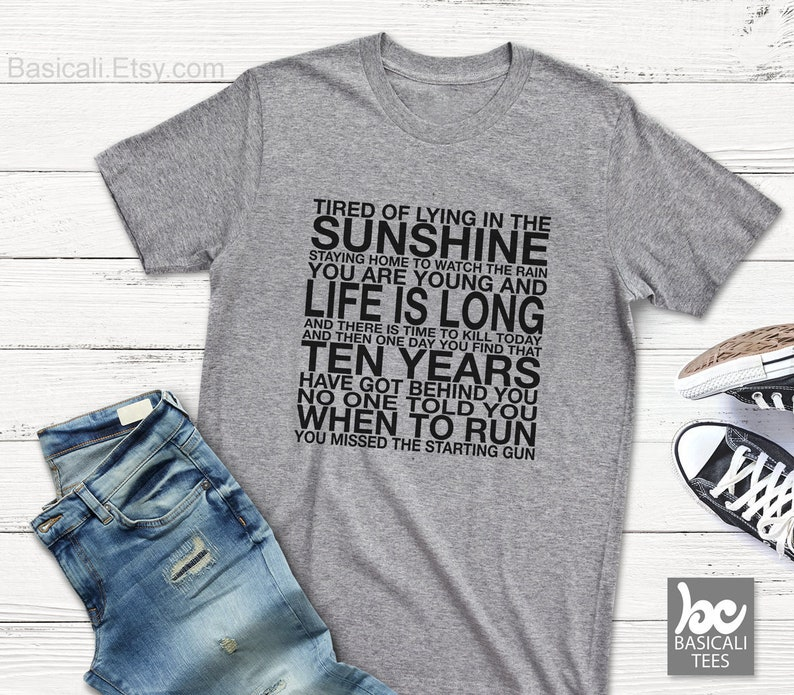 db7d2f567d7f Pink Floyd Shirt Time Lyrics Music Shirt Soft Unisex Tee | Etsy