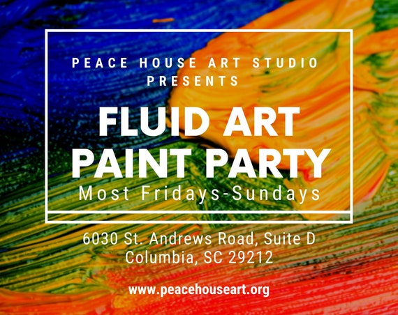 Fluid Art Paint & Sip: Paint Party and Intro to Acrylic Pouring for Adults