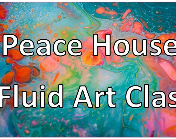 Fluid Art Paint & Sip: Intro to Acrylic Pouring for Adults