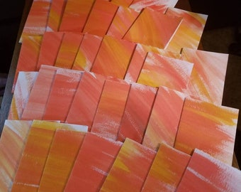 Watercolor note cards. Non-perfect, Rugged, tore cards for stamping, scrapbooking, Thank you notes... etc