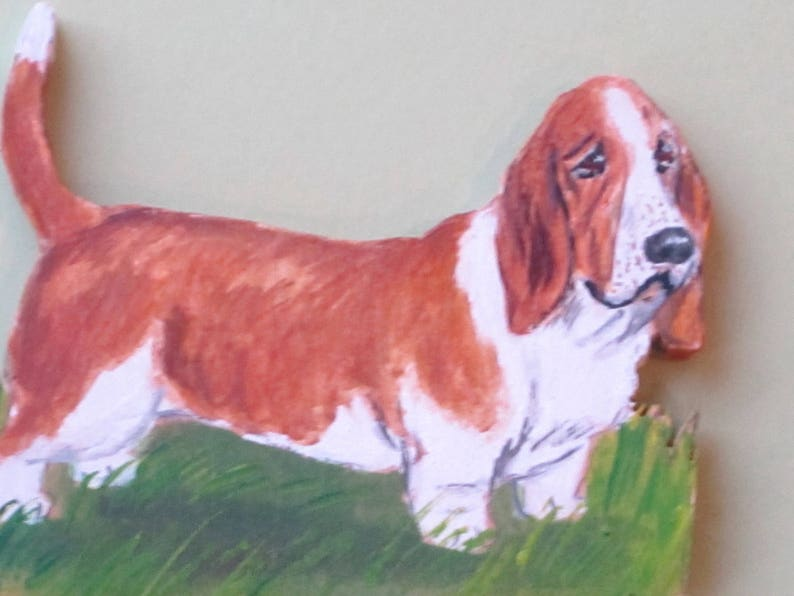 Bassett Hound I Love My Dog Fridge Magnet