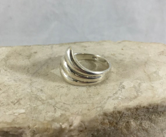 Sea Pottery Ring Adjustable Ring Silver Ring Heart Ring Statement Ring Hallmarked Sterling Silver Sea Pottery Heart Ring