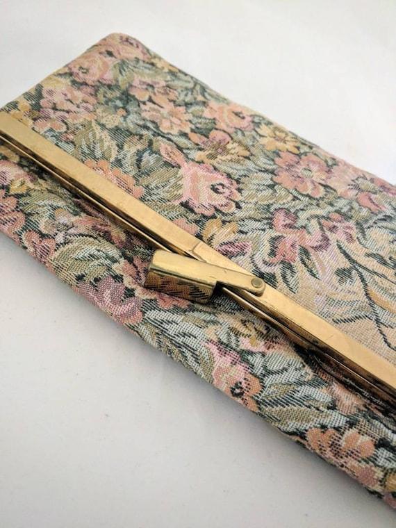 Vintage Purse - Brocade purse - Floral Tapestry De