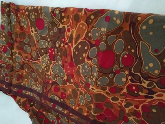 PERRY ELLIS scarf - Abstract Psychedelic Swirls de