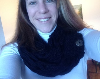 Arm Crocheted Infinity Scarf
