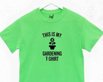 This is My Gardening T-Shirt - Green Fingers - Gardener - Plants - Flowers - Gift