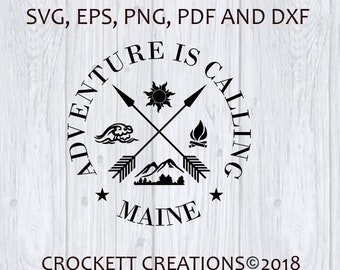 Adventure is Calling svg eps dxf files