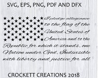 Pledge of Allegiance Svg, Dxf, Eps, Pdf, and Png file