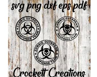 Zombie outbreak response team svg eps dxf files
