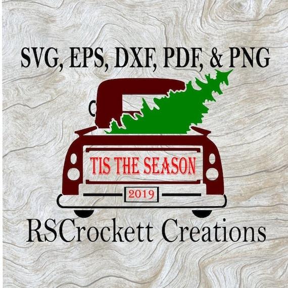 Tis The Season Svg Pdf Png Eps And Dxf Digital File Etsy