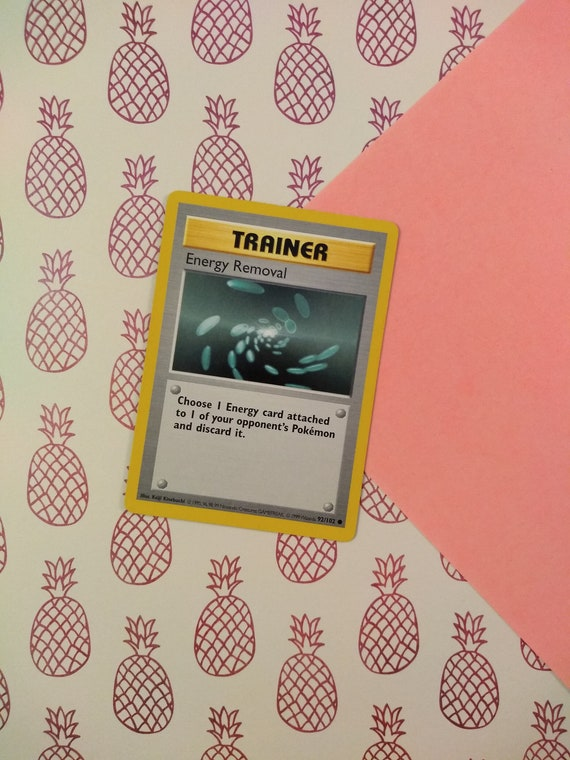 92//102 Base Set Unlimited NM Energy Removal