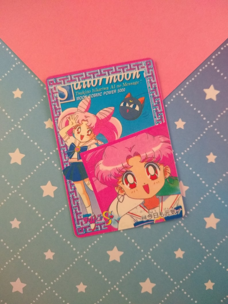 Vintage 1990/'s Pretty Soldier Sailor Moon R Japanese Trading Vending Prism Shiny Holo Sticker